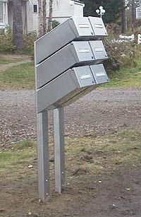 sätta fast brevlåda