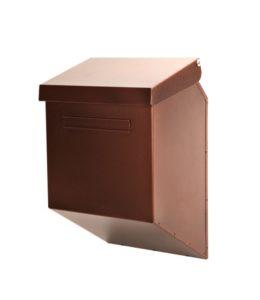 Maalattu metallinen postilaatikko antiikkikupari