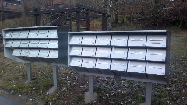 Pulverimaalattu postilaatikko-järjestelmä CityBox-VX